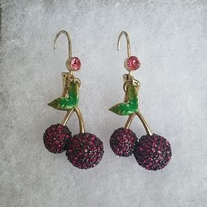 NWOT Betsey Johnson Cherry Earrings